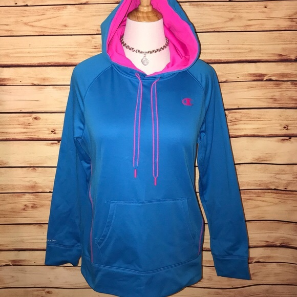 Champion Tops - Champion Blue and Hot Pink Hoodie